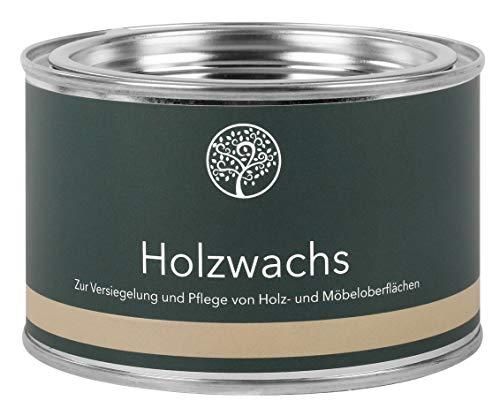 Lignocolor Holzwachs Möbelwachs natürliches Wachs auf Leinölbasis Holzpflege Holzschutz (375 ml, Transparent)