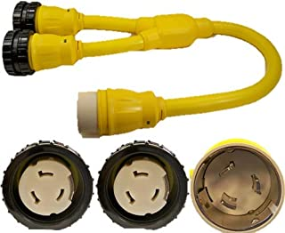 CEP Construction Electrical Products 6404M 50-Amp 2-Feet Temporary Power Y Adapter