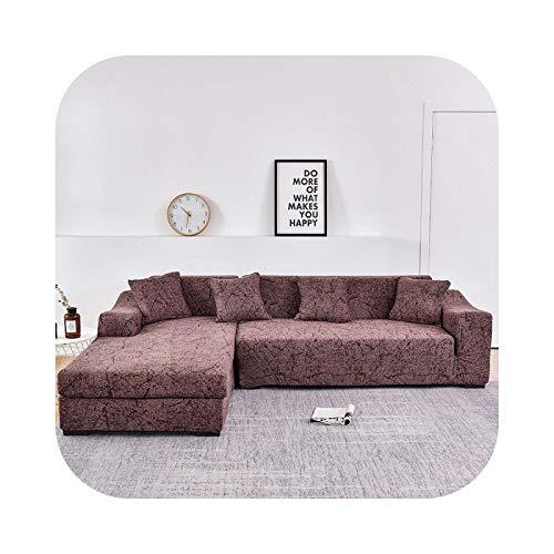 Sofabezug in L-Form, elastisch, für Sofa, Handtuch, Sesselschoner, für Ecksofa, schützt die Möbel, 25 – 2-Sitzer und 2-Sitzer.