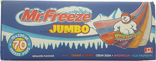 Mr. Freeze Jumbo Ice Pops, 150ml/5oz, 70...