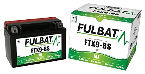 Shineray 250 Stixe, ST9E Quad Spider, FTX9-BS, DIN50812, Wartungsfreie AGM, MF Fulbat Batterie
