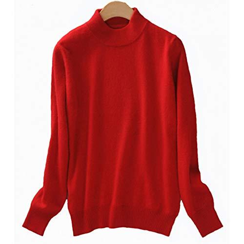 BINGSL trui, vrouwen kasjmier elastische herfst winter halve coltrui truien en truien wollen trui slanke strakke onderbroek gebreide trui