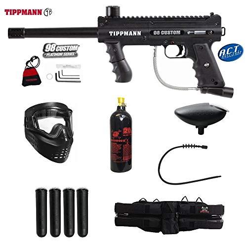 Maddog Tippmann 98 Custom ACT Platinum Series Silver Paintball Gun Package - Black