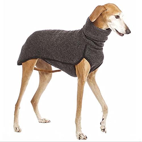 LHKK Ropa de Cuello Alto para Mascotas Ropa Caliente para Mascotas Abrigo de Invierno para Perros Chaleco de Camisa Suave para Perros pequeños medianos Grandes Dark Gray-XXXXXL