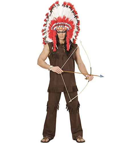 Amakando Traje Hombre Cacique - XL (ES 54) | Disfraz Indio | Fiesta Temtica Oeste Salvaje | Disfraz Jefe de Tribu