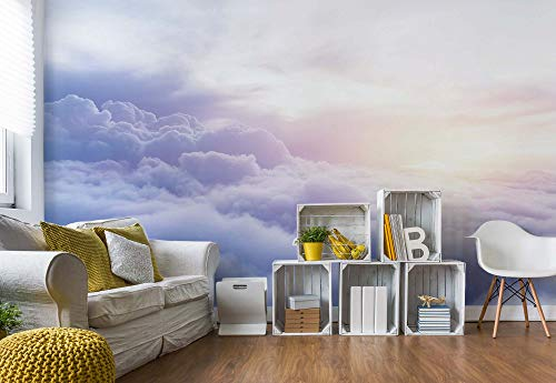 Über Den Wolken Himmel Vlies Fototapete Fotomural - Wandbild - Tapete - 416cm x 290cm / 4 Teilig - Gedrückt auf 130gsm Vlies - 3607VEXXXXL - Himmel & Wolken
