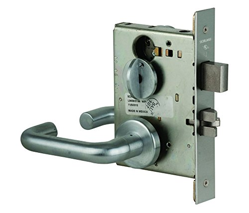 Satin Chrome Finish Schlage L9040 17A 626 Series L Grade 1 Mortise Lock Privacy Function Keyless 17A Design