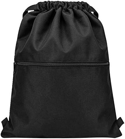 Vorspack Drawstring Backpack String Bag Sports Gym Sack with Side Pocket for Men Women product image