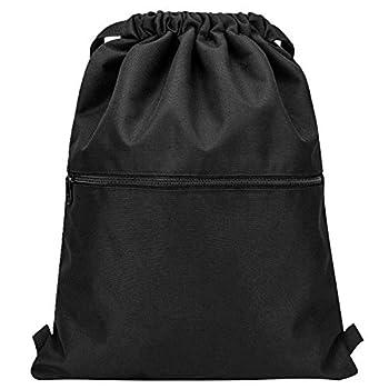 Vorspack Drawstring Backpack String Bag Sports Gym Sack with Side Pocket for Men Women