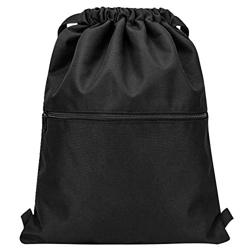 Vorspack Drawstring Backpack String Bag Sports Gym Sack with Side Pocket for Men Women
