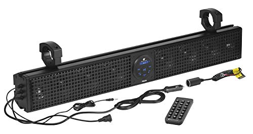 Planet Audio PSX26 ATV UTV Sound Bar System – 26 Inches Wide, IPX5 Weatherproof, Bluetooth Audio, USB, Amplified, Aux-in, 4 Inch Speakers, 1 Inch Tweeters, Easy Installation for 12 Volt Vehicles