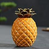 XKMY Tea Caddy creativo ananas oolong tè caddy personalizzato ceramica sigillato tè stoccaggio vaso di ceramica Puer tea box decorazione casa (colore : 01 colore)