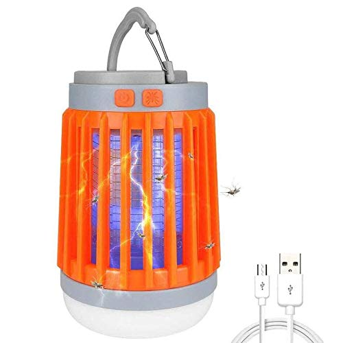 Led Camping Lamp, Bug Zapper Mosquito Killer,Flashlight,3 In 1 Waterproof USB Rechargeable for Home,Camping,Hiking,Fishing,Emergency