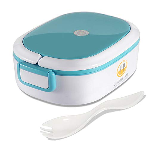 Mr.Dakai Bento Lunch Box for Kids and Adults, Removable Stainless Steel Insulated Lunch Box with Cutlery Fork, Leakproof Food Storage Container - BPA Free Microwave Safe - Blue