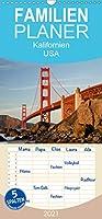 Kalifornien USA - Familienplaner hoch (Wandkalender 2021 , 21 cm x 45 cm, hoch): 13 traumhafte Reisefotos aus dem Westen der Vereinigten Staaten. (Monatskalender, 14 Seiten )