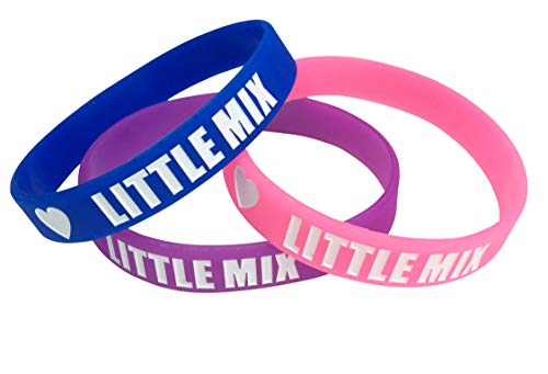 Orion Creations Little Mix Armbänder aus Silikon. Packung mit 3 Farben.