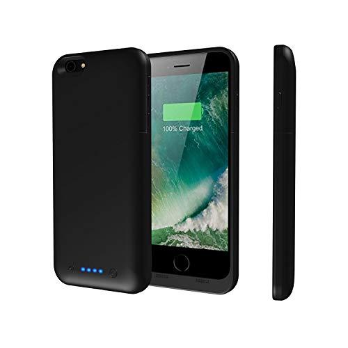 Epuirie - Funda para iPhone 6 Plus/6S Plus, con cargador de batería portátil recargable, con 6800 mAh de reserva, funda con cargador para iPhone 6 Plus/6 S Plus de 5,5 pulgadas Negro