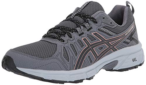 ASICS Women's Gel-Venture 7 Trail Running Shoes, 8.5M, Graphite Grey/Rose Gold