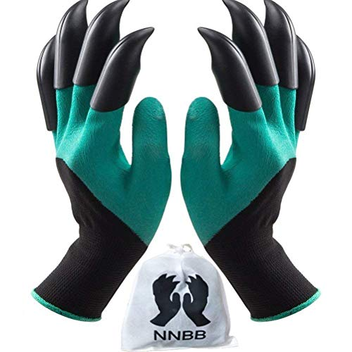 NNBB Garden Gloves with Fingertips Claws Quick– Great for...