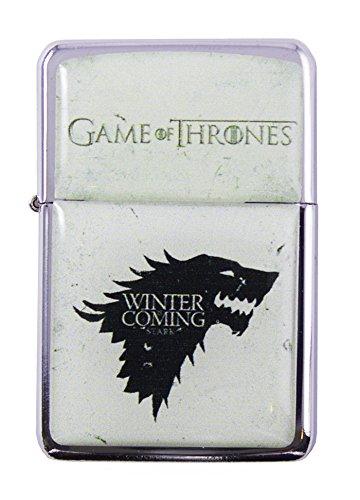 Feuerzeug Star Game of Thrones Stark Wolf Windproof nachfüllbares Flip-Top