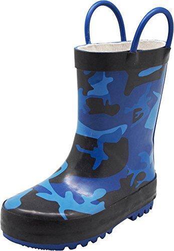 NORTY - Boys Camouflage Waterproof Rainboot, Blue, Black 40148-11MUSLittleKid