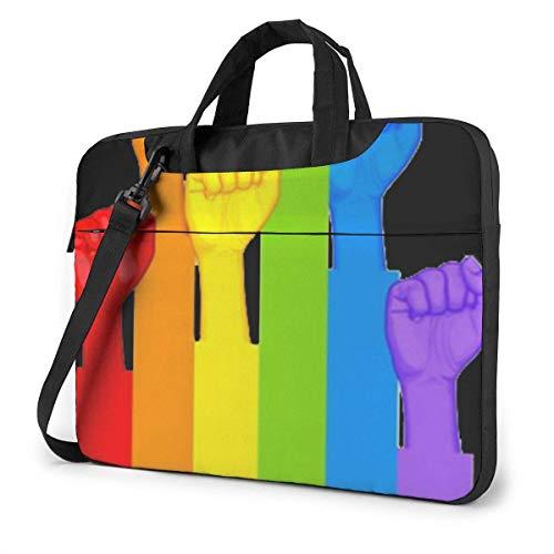 Soporte LGBT Funda para computadora portátil Funda para computadora de 14 Pulgadas Bolso Bandolera Bandolera para Viajes de Negocios