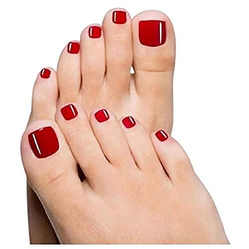 Glam Up - Uñas postizas para uñas, color rojo