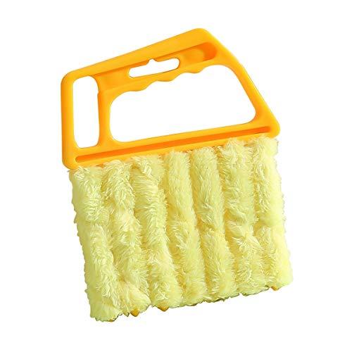 JUEJIDP Herramienta limpiadora para Polvo de 7 Dedos, Cepillo de Microfibra para Limpiar Ventanas, Mini Cepillo para Plumero Ciego, Mini Limpiador Ciego para Aire Acondicionado