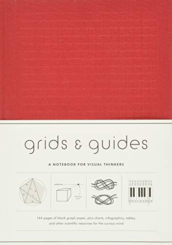 Grids & Guides (Red): A Notebook for Visual Thinkers (Stylish Clothbound Journal for Design, Architecture, and Creative Professionals and Students)