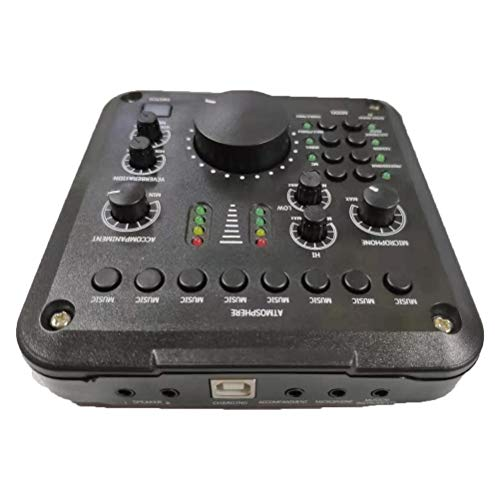 Mini USB Audio Interface, Pro Audio Box Sound Mixer Board Audio Adapter Multiple Sound Effects Voor Live Streaming Music Recording Karaoke Singing