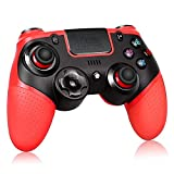 Wireless Controller for PS4, Proslife Game Controller for Playstation 4/Switch Gamepad Joypad with Gyro Axis and Dual Vibration-Red