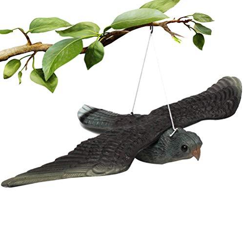 LQMILK Repellente per Uccelli, Falso Spaventoso per Uccelli Falco Volante Falso Richiamo per Uccelli Repellente Realistico Spaventapasseri, con Corde Sospese, per Uccelli, Topi, Scoiattoli O Roditori
