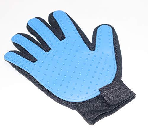 ブラシグローブ ブラシ手袋 ペット用 猫 犬ブラッシング ブラシ 抜け毛取り クリーナー マッサージブラシ ブラシ グルーミンググローブ 青色 (片手?右手)
