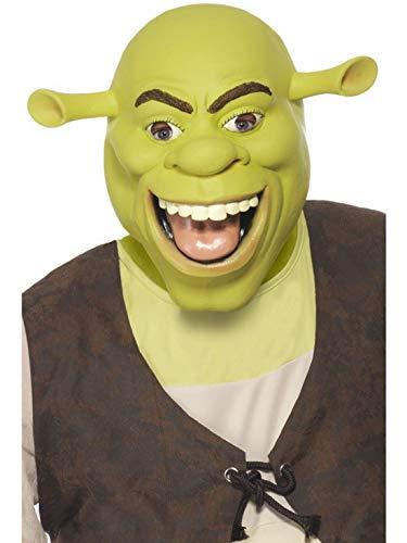 Karnevalsbud - Kostüm Accessoires Zubehör Herren Shrek Latex Maske, perfekt für Karneval, Fasching und Fastnacht, Grün