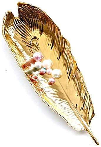 Bjimn Moderno plumas en forma de cerámica bandeja de barranco platos de almacenamiento de hoja fina para la madre esposa decoración del hogar ornamento artesanía nórdico cerámico de cerámica para el h