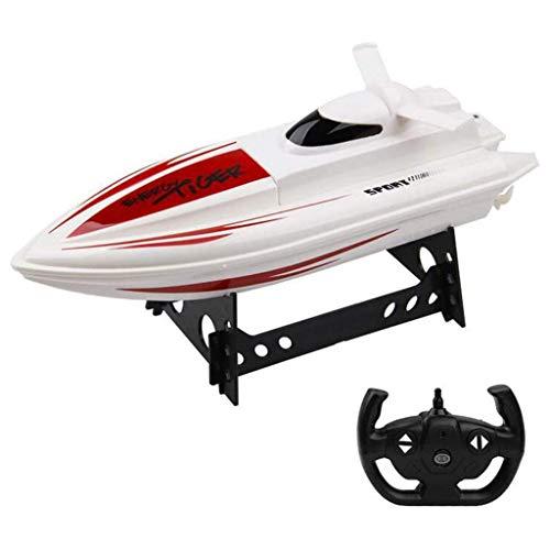 Mein erstes ferngesteuertes Auto , 2,4 GHz RC-Rennboot für Pools & Seen, 15 km / h Hochgeschwindigkeits-Fernbedienungsboot, Selbstaufrichtung, Geburtstagsgeschenk für Kinder Erwachsene Jungen Mädchen