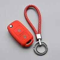 AL キーカバー シリコン ラバー キー カバー ケース 対応車種: VW セアト イビサ レッドセット AL-II-4803-T005