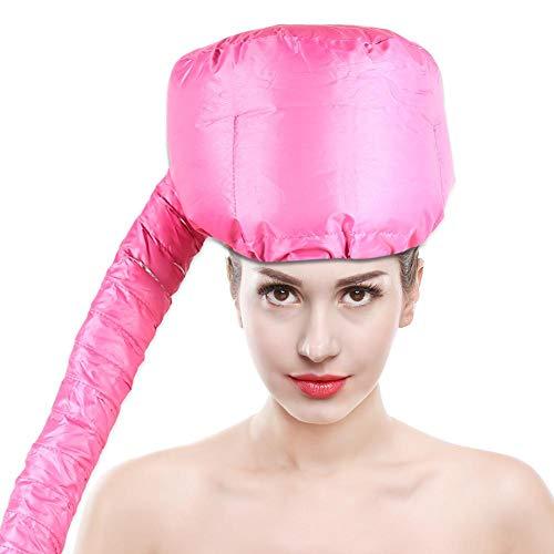Capuchón de secador de pelo, secador de pelo ajustable, fijación de la gorra, tratamiento profundo, cuidado acondicionador del cabello, gorra SPA (rosa)