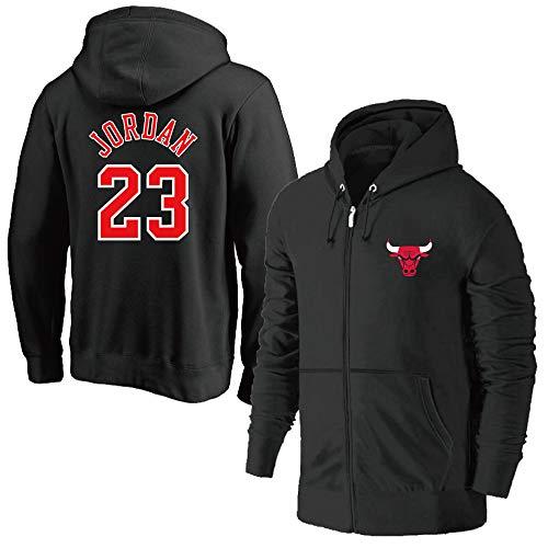 HEJX Bulls 23 Jordan Jersey Jersey de Entrenamiento Engrosamiento Chaqueta de Punto Chaqueta con Capucha
