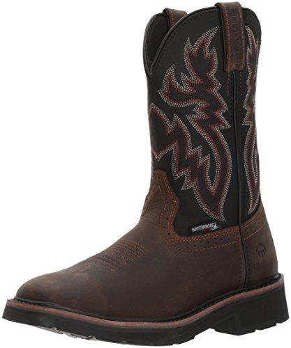 Wolverine Men's Rancher Wpf Steel Toe Wellington Work Boot Black/Brown 10 M US