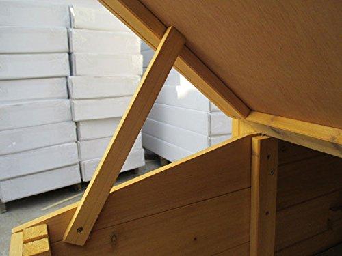 dobar 24001FSC Doppelstöckiger Hühnerstall mit Freigehege auf 2 Etagen, fuchssicher mit verstärktem Zinkdraht, FSC-Holz, Zinkwanne, Doppelboden, Plexiglas-Fenster, 173 x 66 x 120 cm - 9