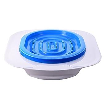 UEETEK Siège de Dressage pour Toilettes pour Chats Kit Pot pour Chats Pot (Bleu)