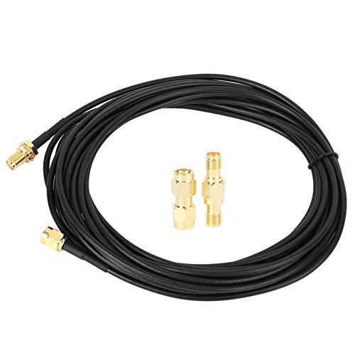 Cable de prueba AYNEFY BNC a BNC CCTV Línea de monitoreo de seguridad de fuente de alimentación dorada chapada en cobre puro