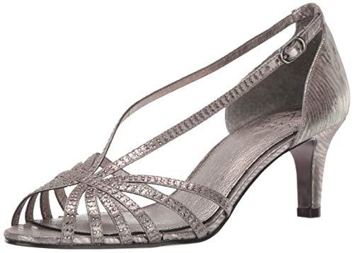 Adrianna Papell Women's Judy Heeled Sandal, Gunmetal, 6 M US
