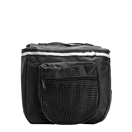 BUMSIEMO Bolsa de equipaje para bicicleta, impermeable, doble maletero, color negro