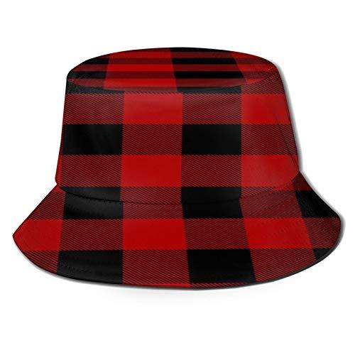 Yaseking - Sombrero de protección UV para mujer, diseño de cuadros de Navidad, casual, transpirable, lavable, reutilizable, para verano, transpirable, para uso diario, para mujer