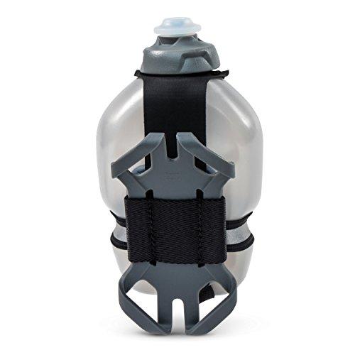FuelBelt Tech Fuel Hand-Held Running Water Bottle with Smartphone Holder, 10 oz