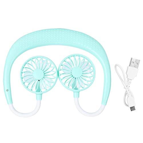 Ventilador de Cuello Ventilador eléctrico USB Compacto para Oficina de Viajes al Aire Libre(Green, Pisa Leaning Tower Type)