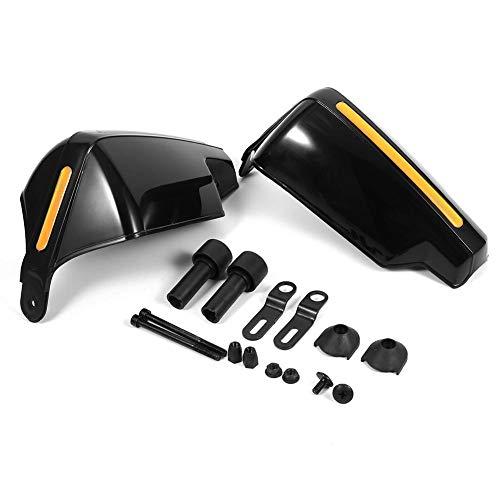 Keenso1 Paar/2 stk Universal Motorrad 7/8 zoll Lenker Handschutz Windkalt Protector Windschutzscheiben Deflektoren Griffschutz Bike Brush Wind Guard(Schwarz)