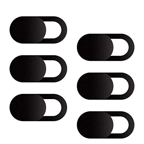 Webkamerafodral, 6-pack ultratunn design webbkamerafodral för bärbar dator, PC, Macbook, iMac, dator, iPad, smartphone, skydda ditt privatliv och säkerhet